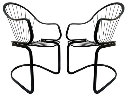pair of art deco metal lawn chairs home pinterest art deco 1950S Style Furniture pair of art deco metal lawn chairs