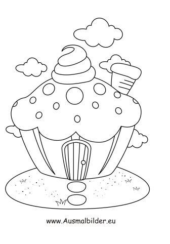 Ausmalbild Muffin Haus Ausmalbilder Kostenlose Ausmalbilder Und