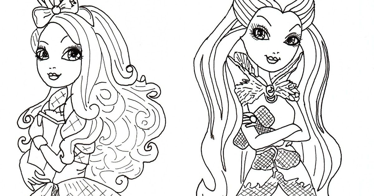 Apple White and Raven Queen Free Coloring Page | Raven ...