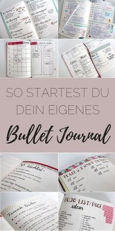 bullet journal so startest du dein eigenes bullet. Black Bedroom Furniture Sets. Home Design Ideas