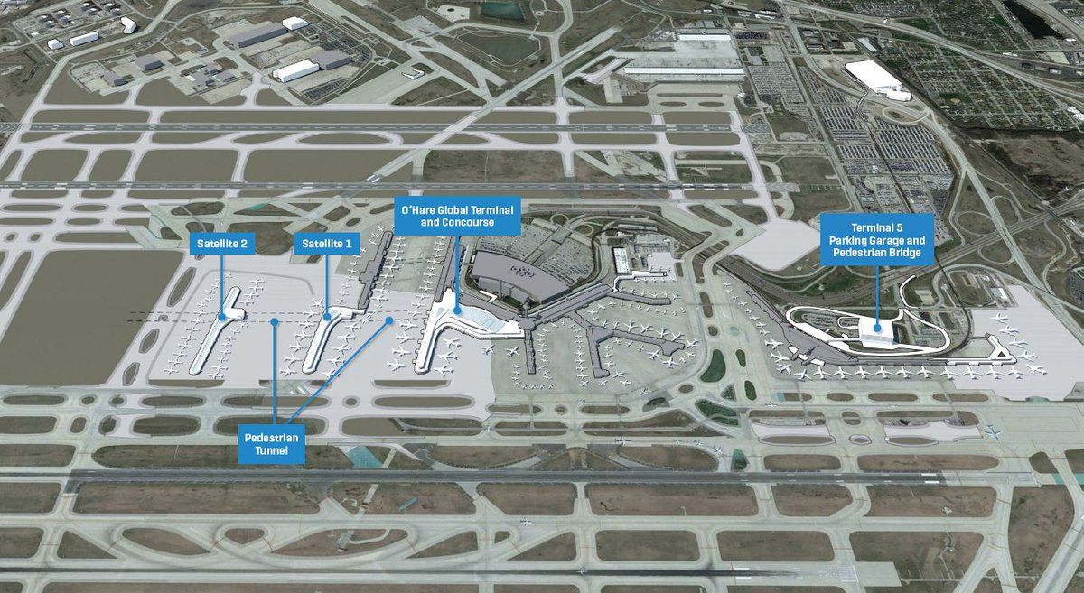 O Hare Intl Airport Fly2ohare Twitter Airport Design Airport Ohare Airport