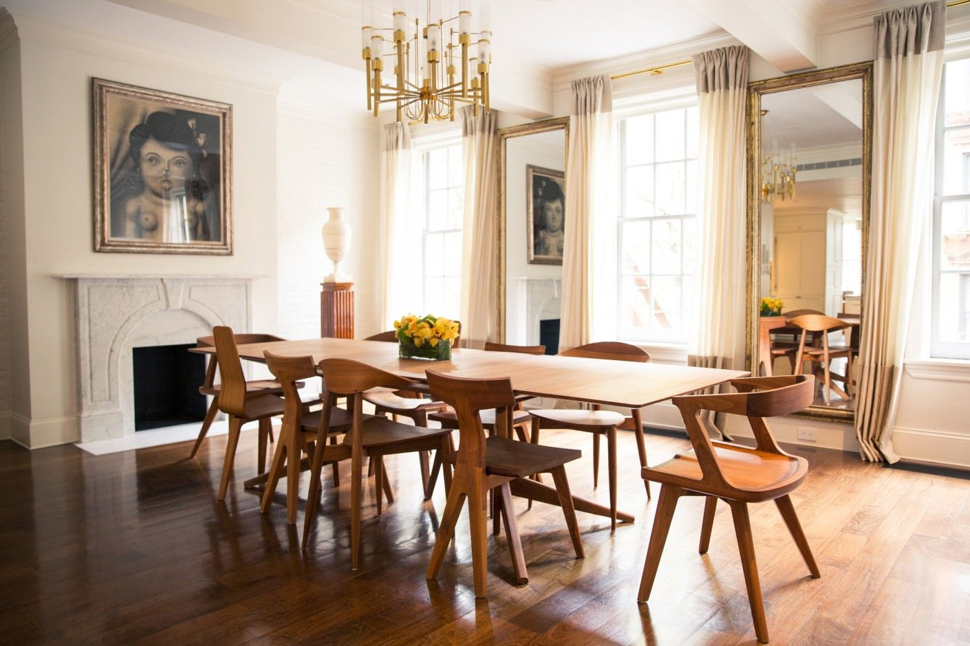 Inside Gabriela Hearst's West Village Town House  Dining Room Fair Comfortable Dining Room Sets Inspiration