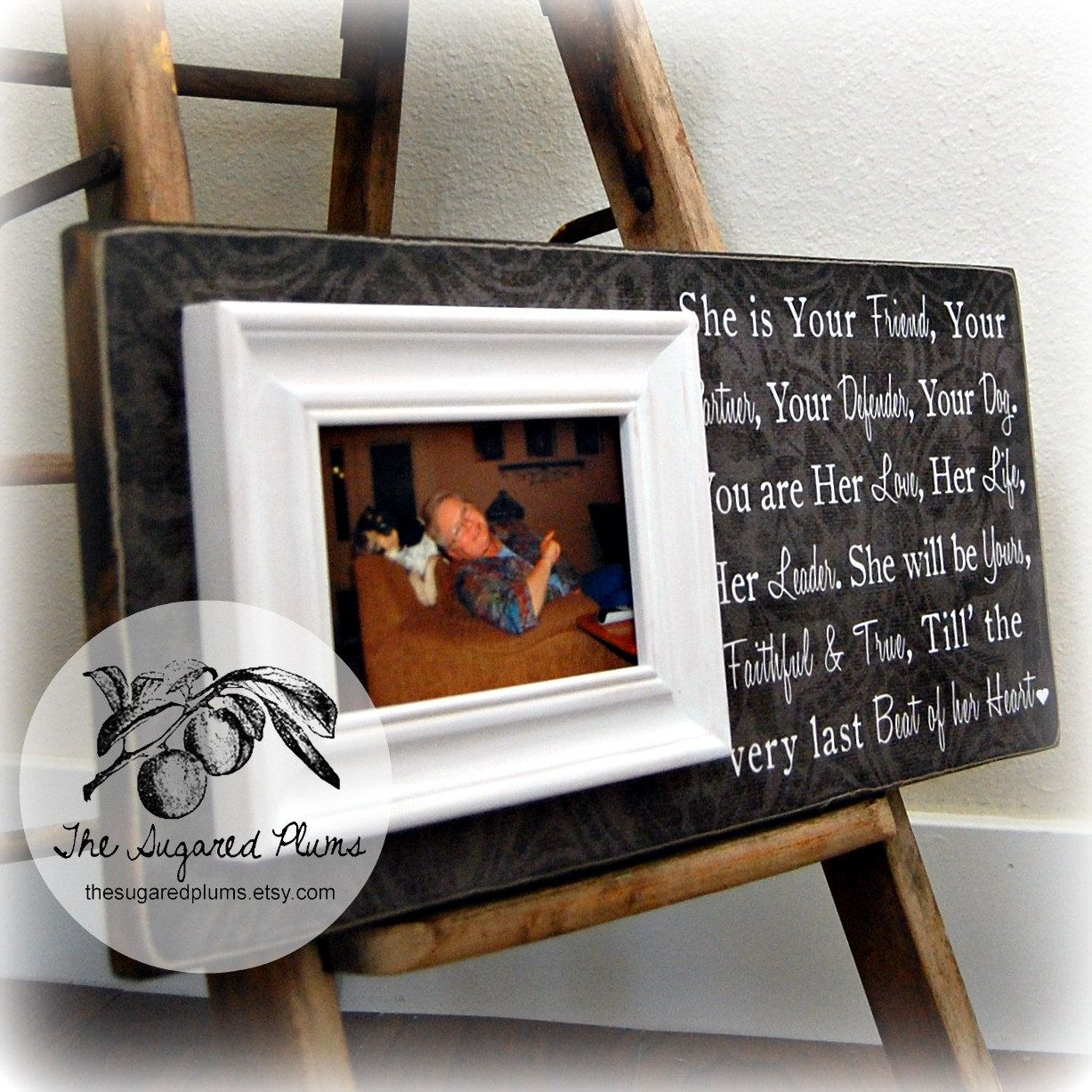 Personalized Pet Picture Frame Gift, Dog lover, Pet Gift, In memory ...