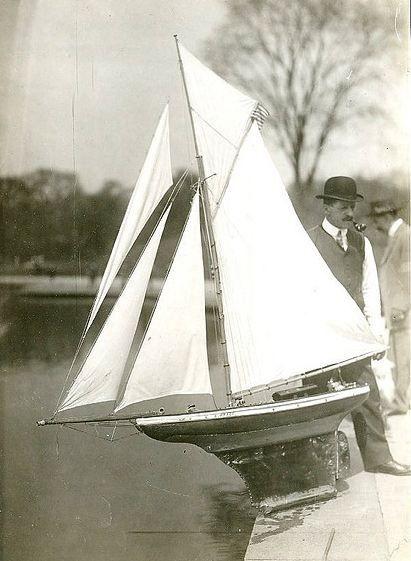 1921 Pond Yacht Central Park New Boat Model Sailboats Sailing