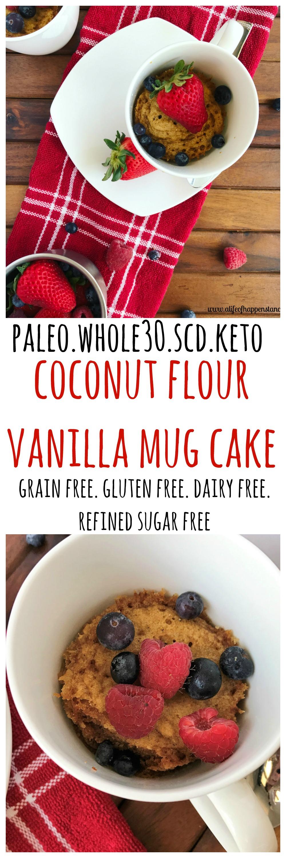 Coconut flour vanilla mug cake recipe best gluten free
