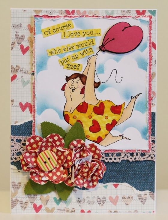 Art Impressions Ai People Tina Set (Sku#4215) Handmade Valentine's Day love themed anniversary card.