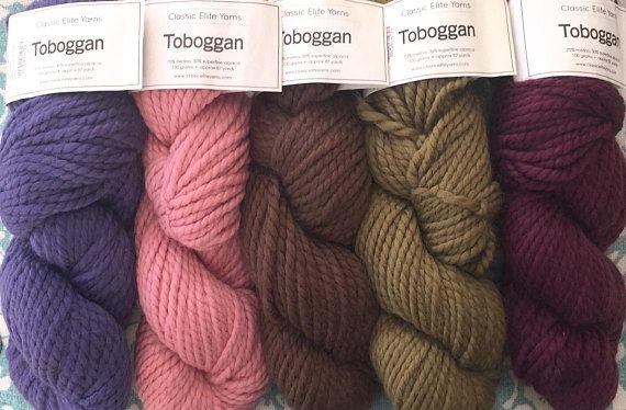 Classic Elite TOBOGGAN Yarn 10.25.99ea to Ship Bulky Merino