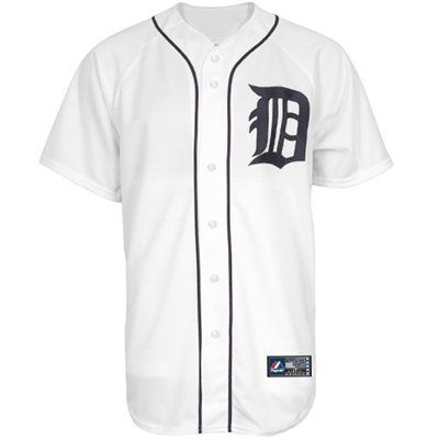 new product f6aa5 5f526 Majestic Detroit Tigers White Replica Baseball Jersey | The ...