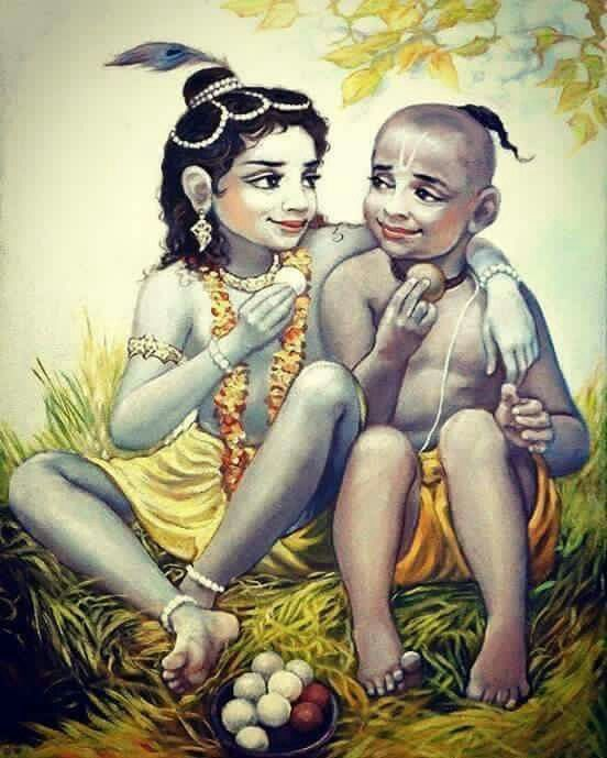 Image result for lord krishna and sudama