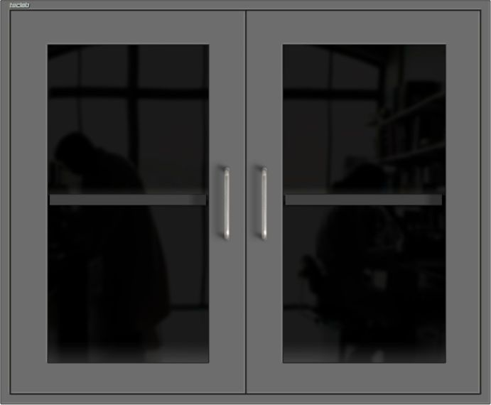 125913 Wall Cabinet With Glass Doors Teclab Manufactured Of Heavy