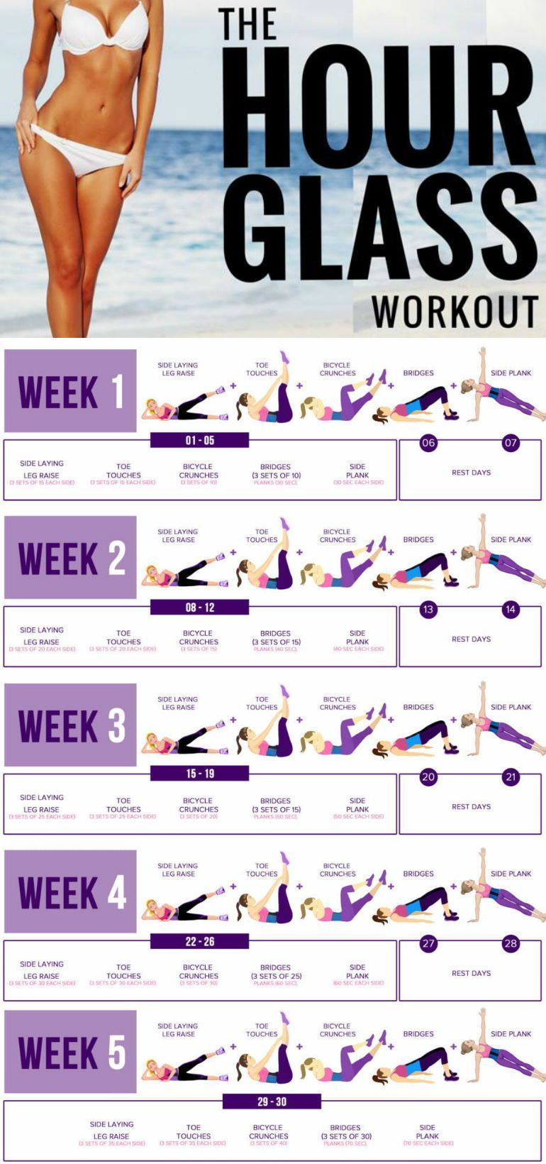 5 Moves To Shape Your Body Into A Beautiful Hour Glass Figure - GymGuider.com