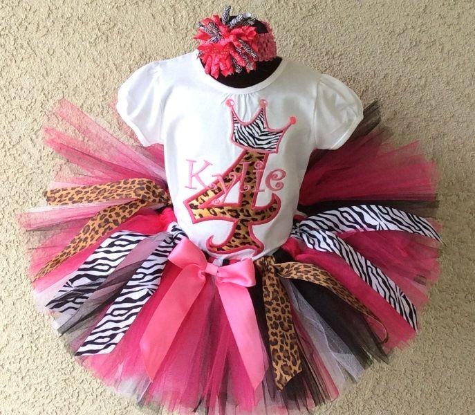 Girls Personalized Safari Princess - Birthday Tutu Outfit | girl ...