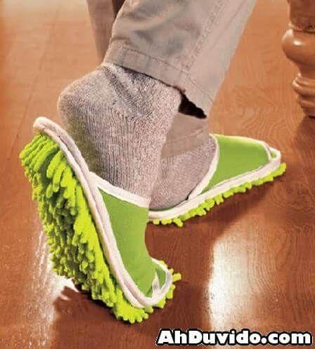Fantástico! Pantufas com tecido de microfibra para limpar o chão - # #dicasdelimpeza #façavocêmesma