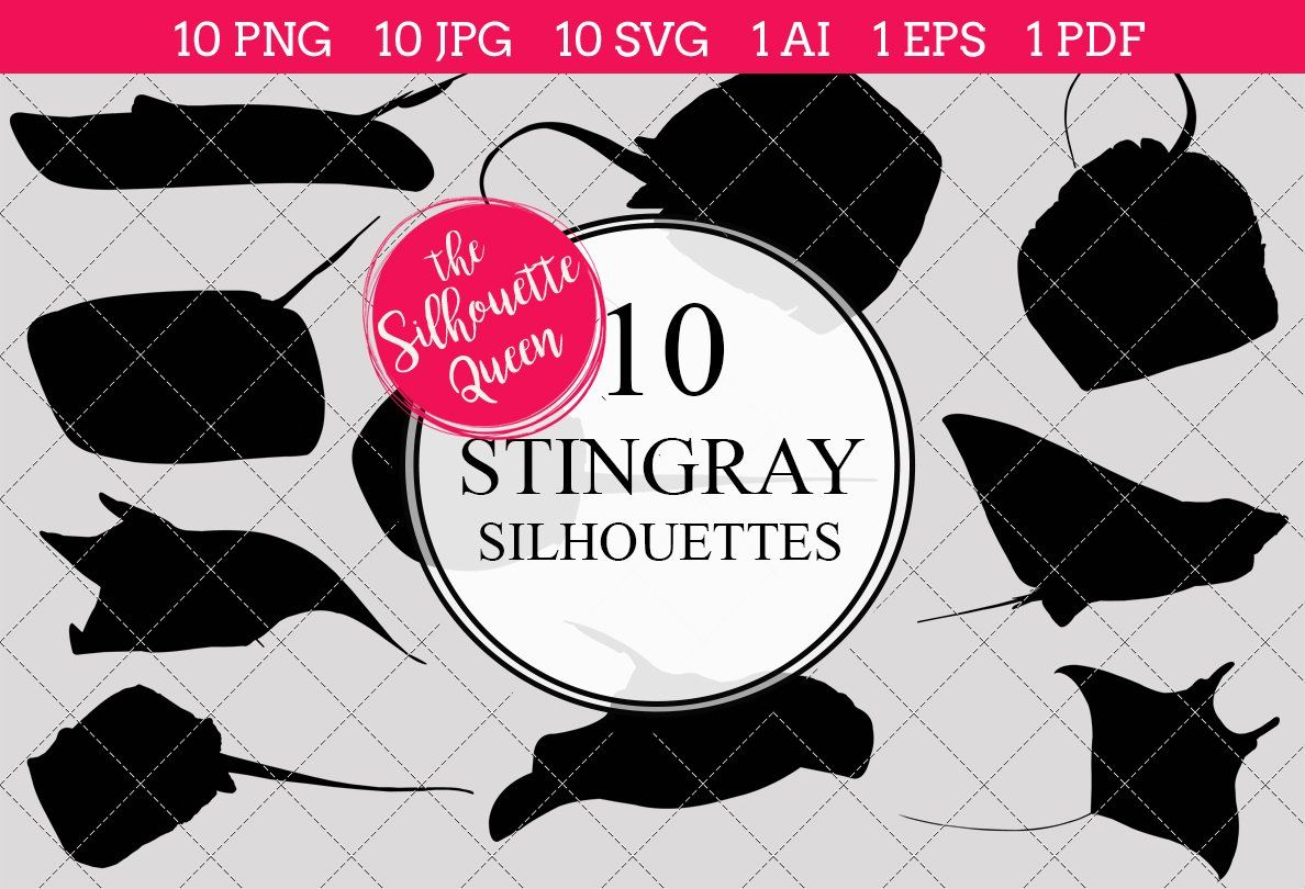 Stingray silhouette vector graphics Silhouette vector