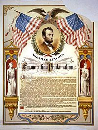 """Emancipation Proclamation: Original Copy Sells For More Than 2 Million Dollars."" Anybody got an extra 2 million hanging around? #CivilWar #Buff  PHOTO: Abraham Lincoln and his Emancipation Proclamation.  The Strobridge Lith. Co., Cincinnati, c1888.   Prints & Photographs Division.  Reproduction Number:  LC-USZC4-1526"