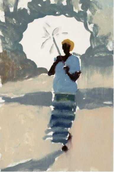 Lucy Willis - The white umbrella | Figure painting, Art