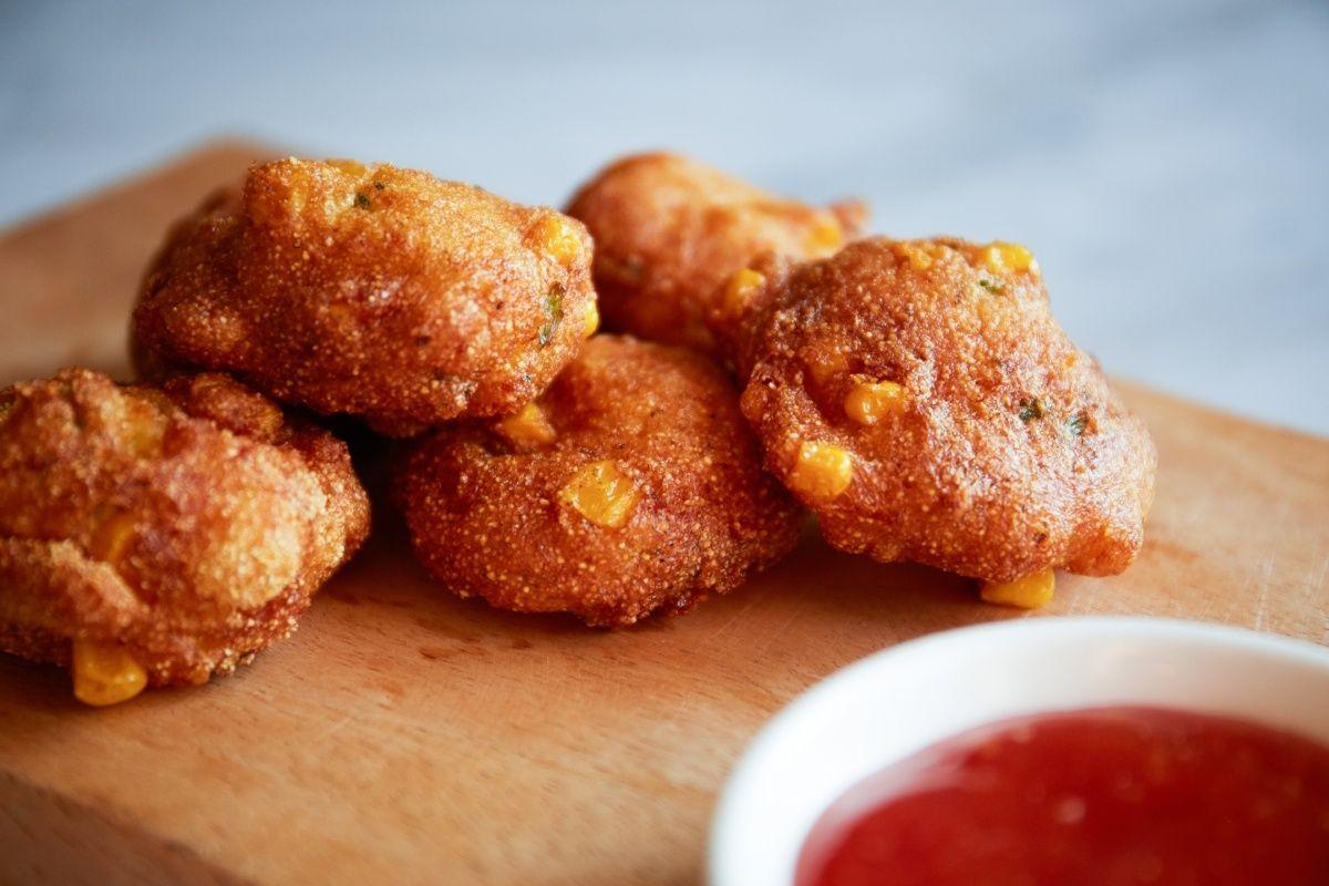 Sweet Corn Hush Puppies Recipe Food Food Recipes Hush