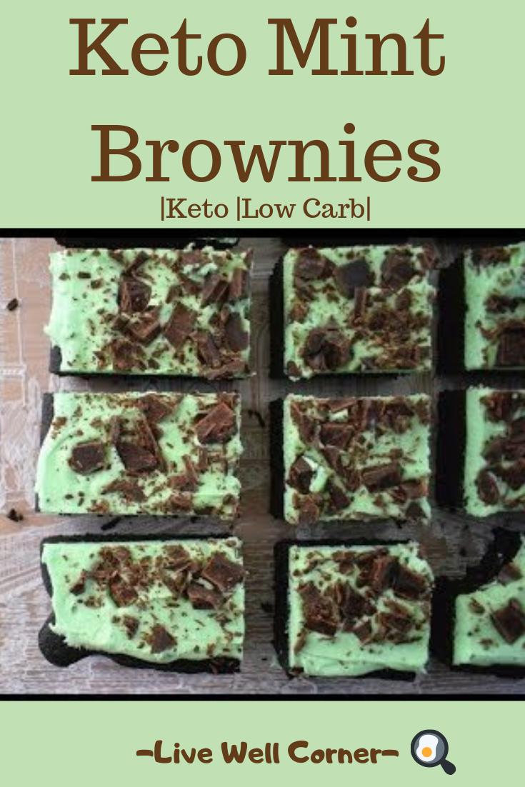 Keto Mint Brownies   Low-Carb Mint Chocolate Brownie Recipe
