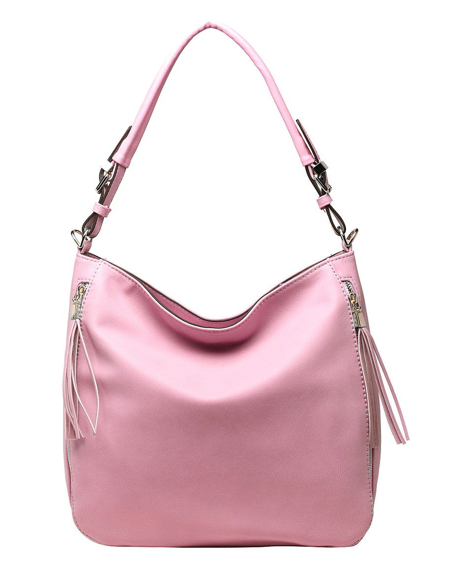 Take a look at this MKF Collection Light Pink Buckle-Strap Hobo today!