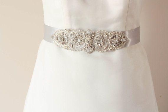 Wedding Bridal Sash   ITALIA  75 inches Made to by MillieICARO, $129.00