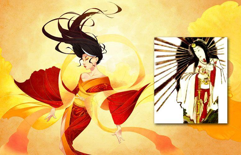 Amaterasu Is The Japanese Sun Goddess The Principal Deity In The