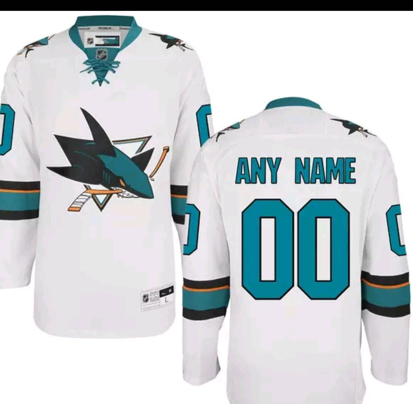 San Jose Sharks NHL Customizable Mens Women Youth Premier Jersey M-XXXL  Plain or Customized With ANY Name Number 1a4f194f4