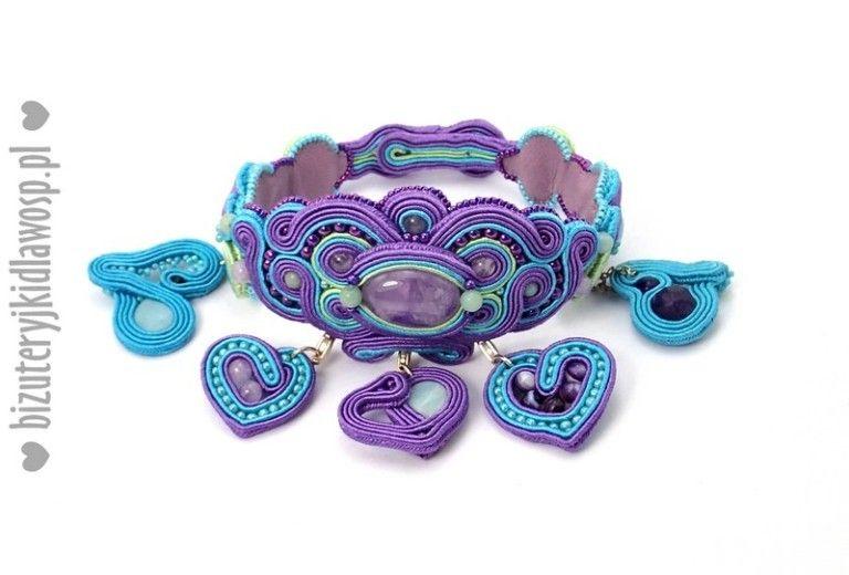 Kup 07 Bransoletka Lavender Sky Sutasz Bizuteryjki Na Aukcje Wosp Soutache Beads Jewelry Enamel Pins