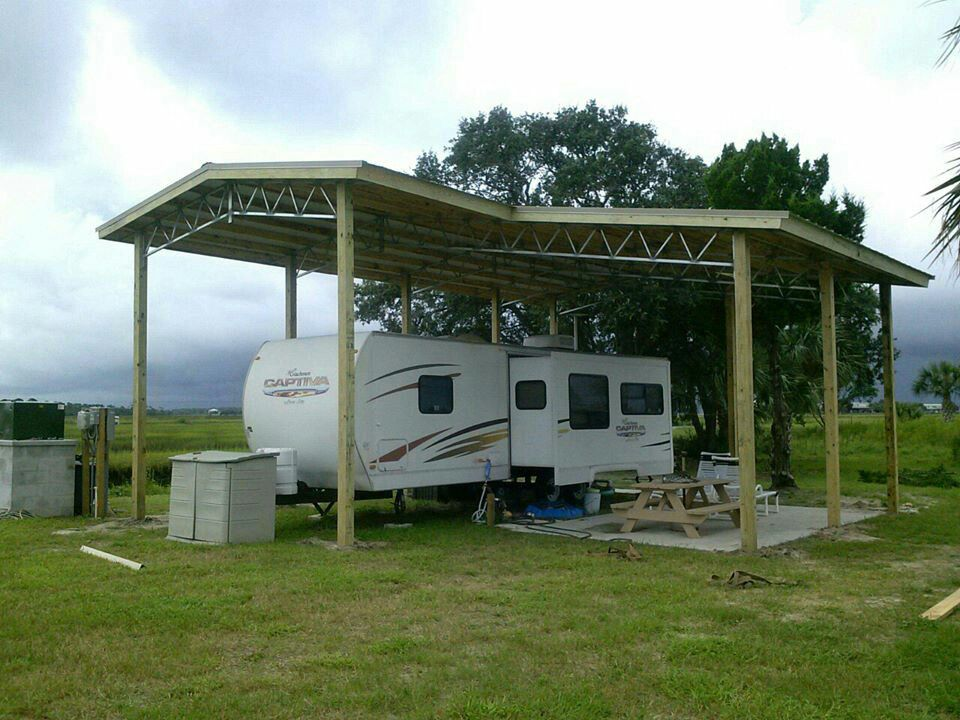 Pin by brenda stroup on rv living pinterest rv rv for Rv pole barns