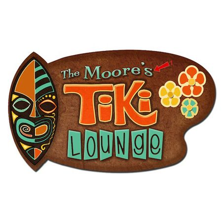 Tiki Lounge Vintage Sign | Lake and Beach Signs | Personalized Signs