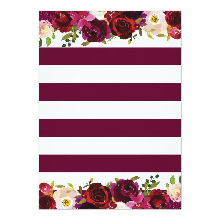 Burgundy Floral Surprise 60th Birthday Party Invit