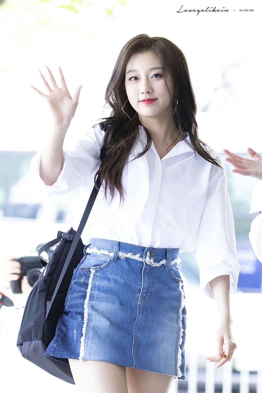 Japanese girl jean skirt