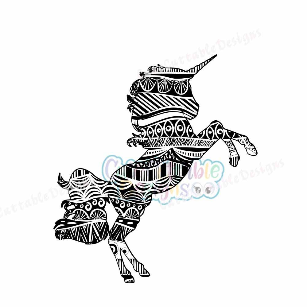 Ohnezahn Hicks Ausmalbilder : Zentangle Unicorn Svg Eps Dxf Studio Printable Png Boho Ethnic