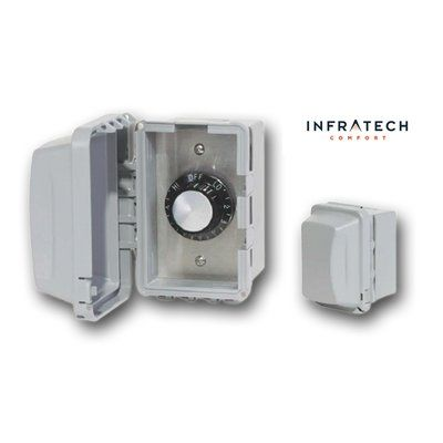 Infratech Inf Surface Mount Waterproof Control Thermostat In 2020 Wall Waterproofing Infrared Heater Weatherproofing