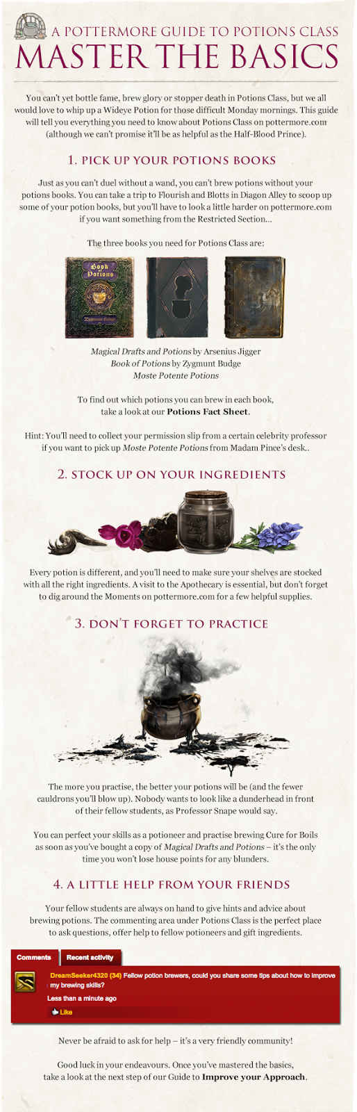 Pottermore Insider: Guide to Potions Class – Master the Basics