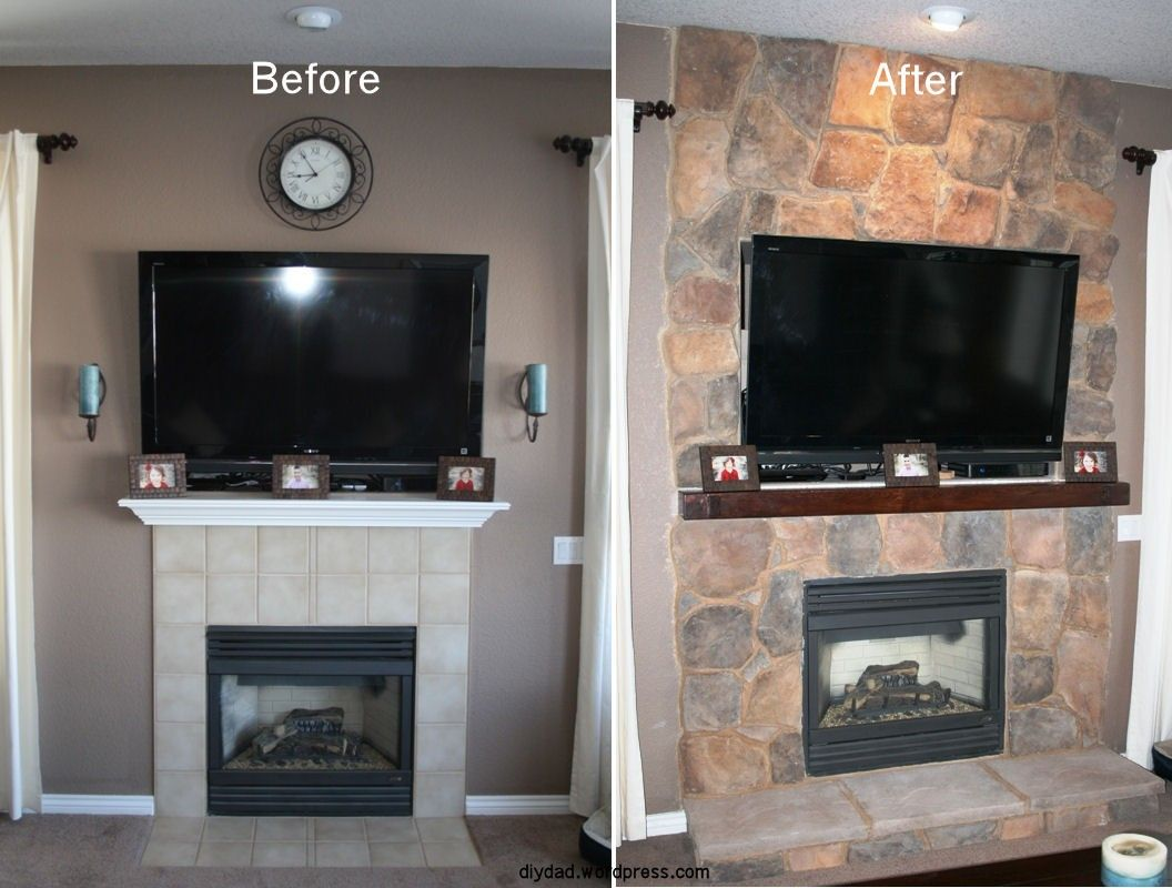 Fireplace Remodel With Stone | Raising, Fireplace inserts and ...