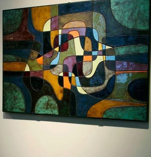 André Aleth Masson - wall art enamelled ceramics , #MCM