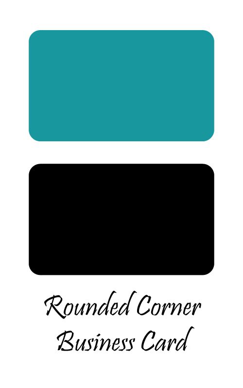 Example of rounded corner business card example pinterest example of rounded corner business card colourmoves