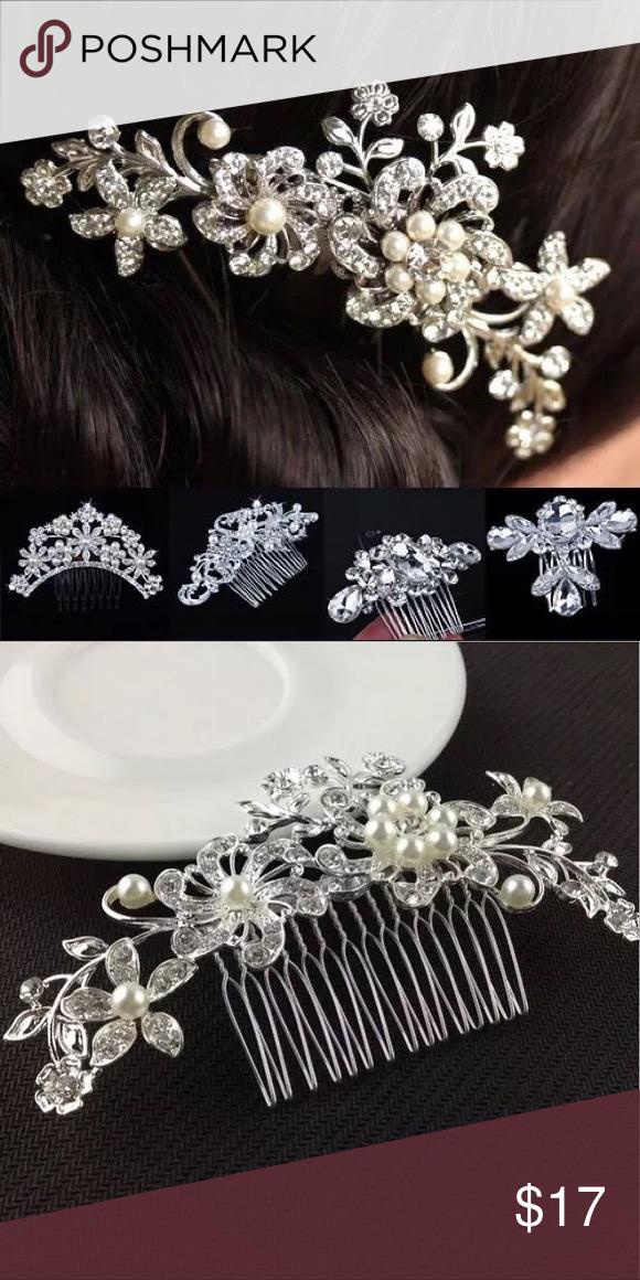 1a792add0945 New Flower Crystal   Pearl Bridal Hair Comb New Handmade Wedding Bridal  Bride Hair Accessories Flower Crystal Imitated Pearls Hairpin Diamante Hair  Comb ...