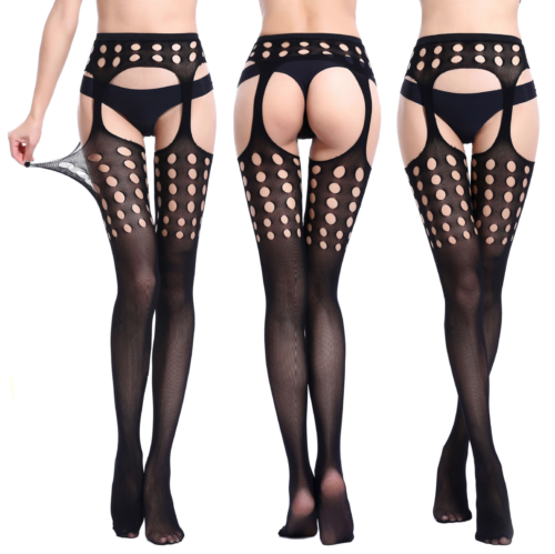 45339a474dc44 Sexy Stockings Tights Suspender Hosiery Open Crotch Garter Belt Thigh Highs  S M#Suspender#Hosiery