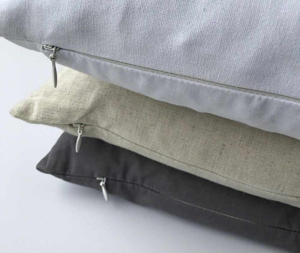 hidden zipper pillow covers