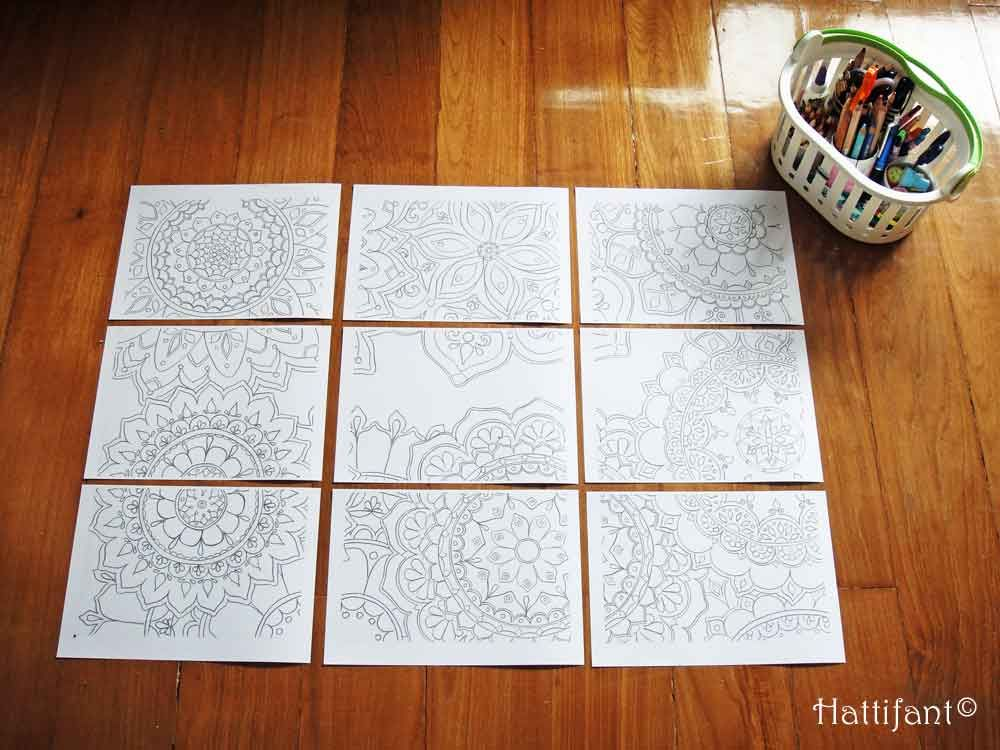 Giant Mandala Colouring Poster Pictures