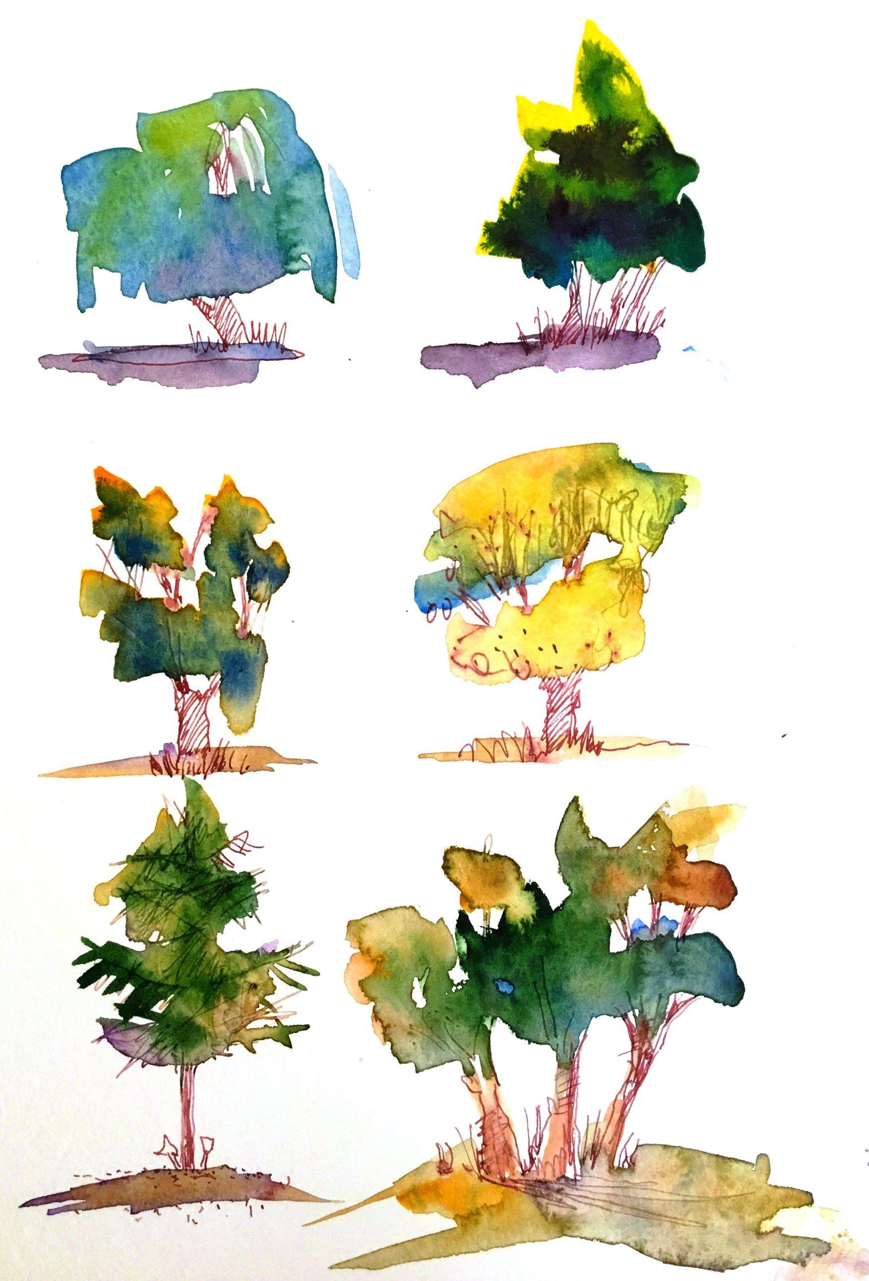 Anleitung Baume Malen Tutorial Baume Malen Lernen Von Tine Klein