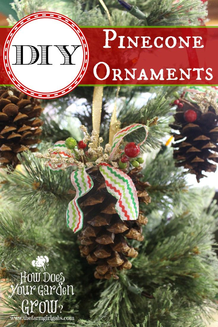 Easy To Make Rustic Pinecone Ornaments Christmas Crafts Ornaments Diy Http Wp Me P4z93l Jo Diy Christmas Tree Ornaments Christmas Ornaments Homemade Pinecone Ornaments