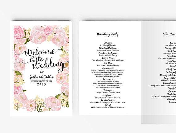 This Whimsical Design Wedding Program Is Perfect Addition To Your