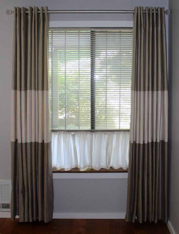 This Pet Curtain Is Added To The Bottom Of Your Blind So Your Cat Or Dog Can Look Out Window Treatments Living Room Curtains With Blinds Diy Window Treatments