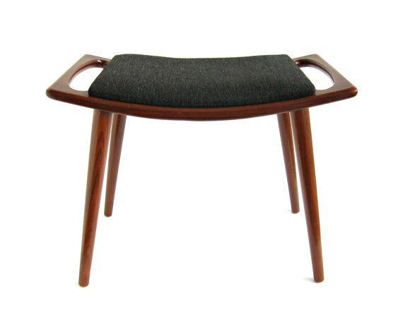 Norway Modern Teak Stool Ottoman Footstool / by WestCoastModern $350.00  sc 1 st  Pinterest & Norway Modern Teak Stool Ottoman Footstool / by WestCoastModern ... islam-shia.org