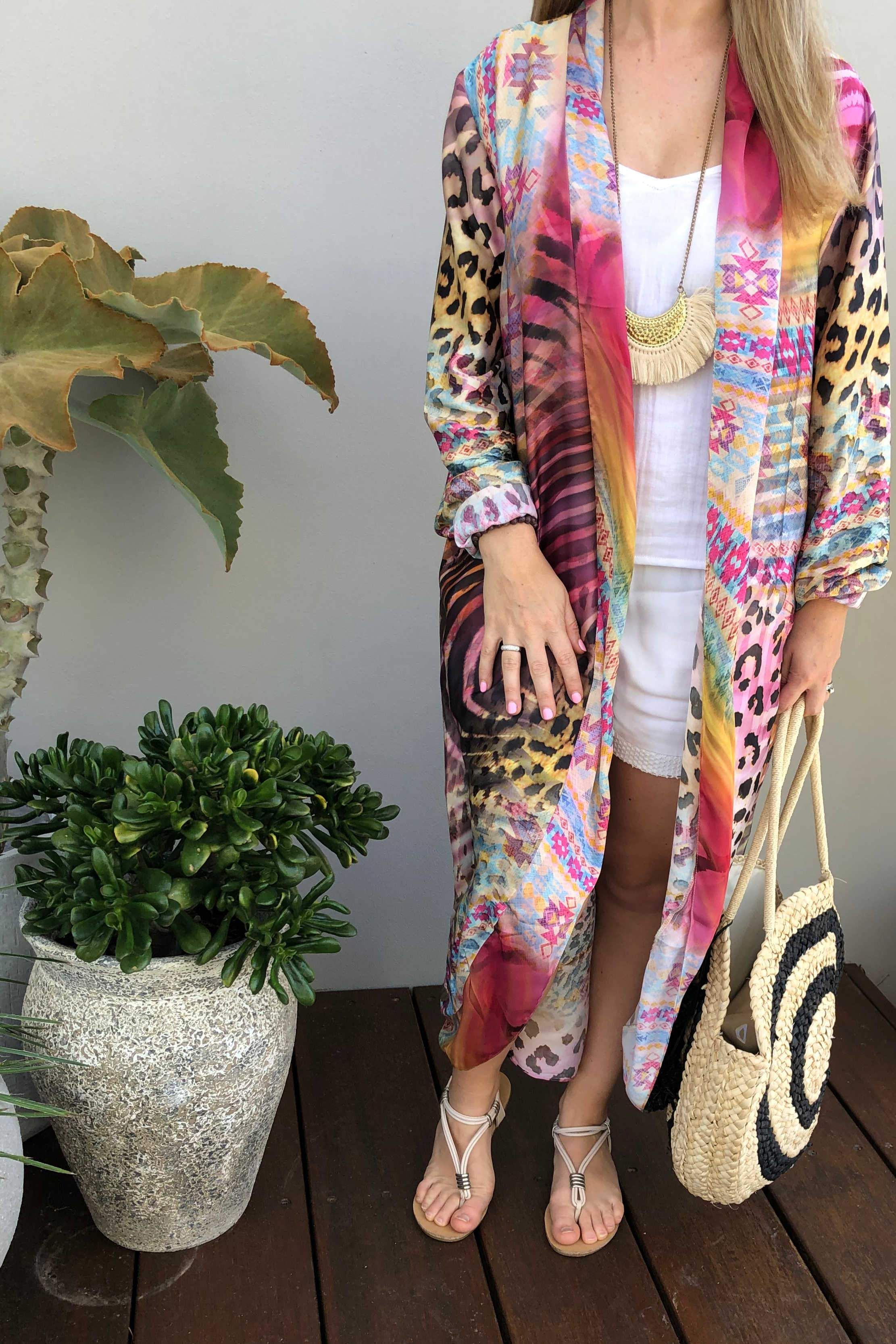 d7b301cf51a29 Answer it with our Zebra Kimono! #mylook… | iland co Designs with online  shopping links! | Honeymoon style, Fashion, Beach dresses