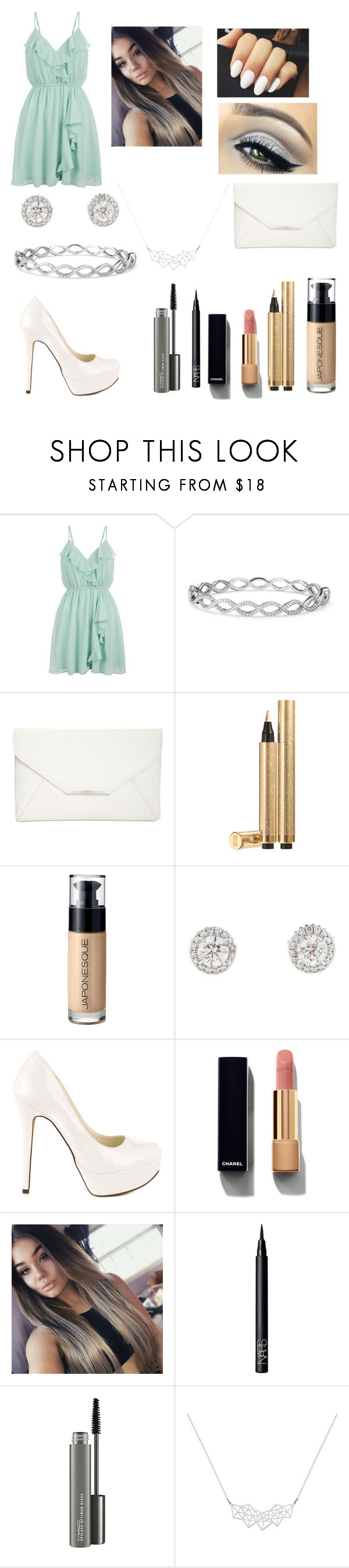 """Untitled #135"" by jprinceceasimpson on Polyvore featuring New Look, Blue Nile, Style & Co., Yves Saint Laurent, Japonesque, Michael Antonio, Chanel, NARS Cosmetics and MAC Cosmetics"