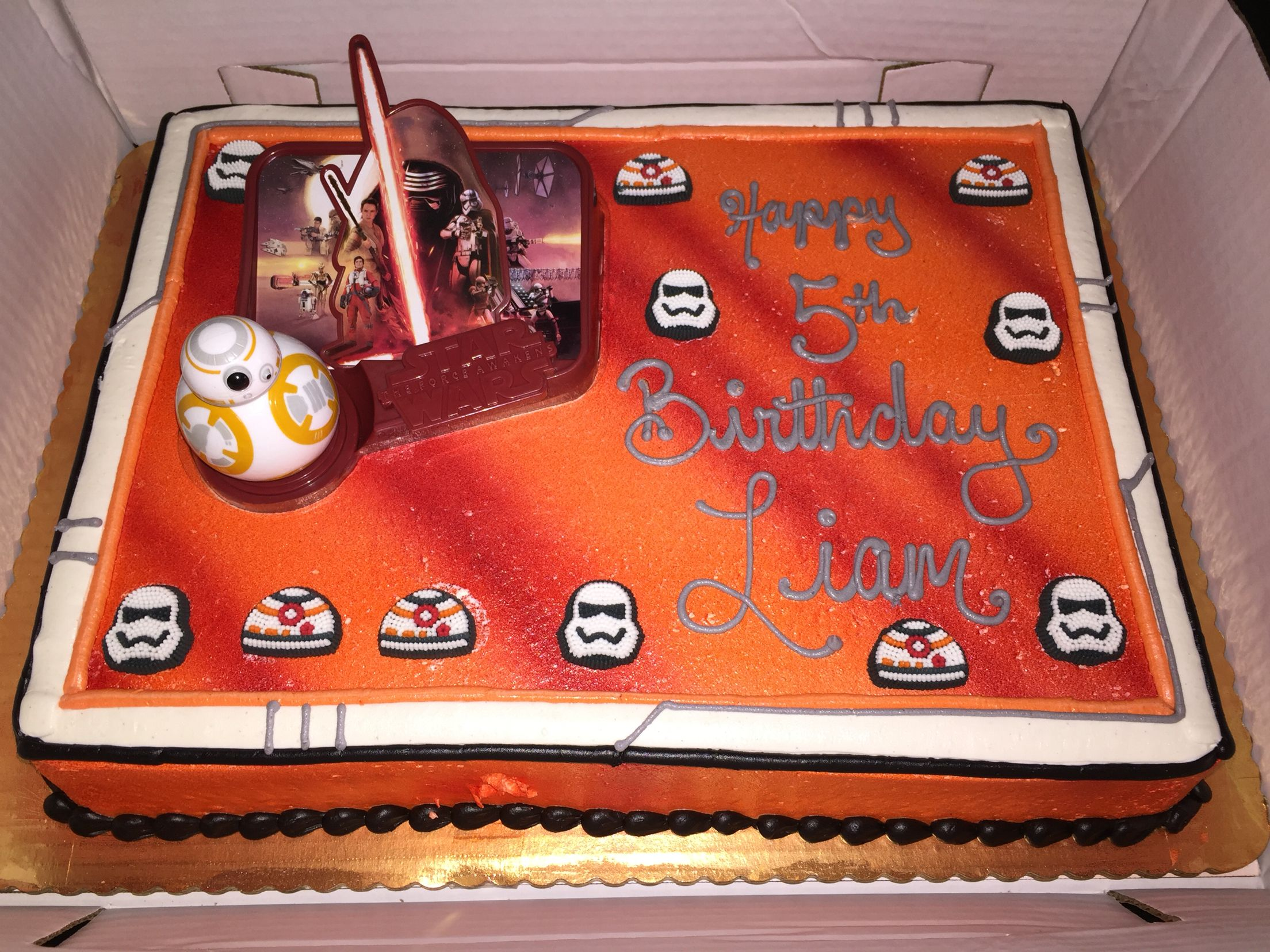 Star Wars theme cake from Shop Rite The Force Awakens Kids Star