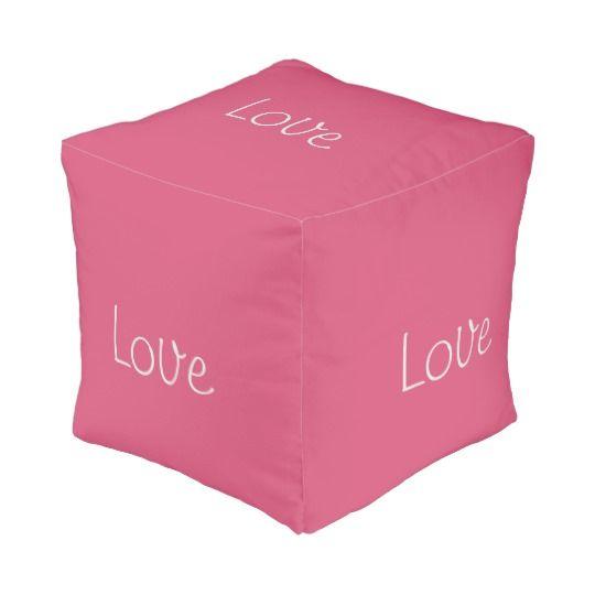 Love Pouf, Cube Pouf http://www.zazzle.com/love_pouf_cube_pouf-256728795945173001 #Valentine #Love #Gift